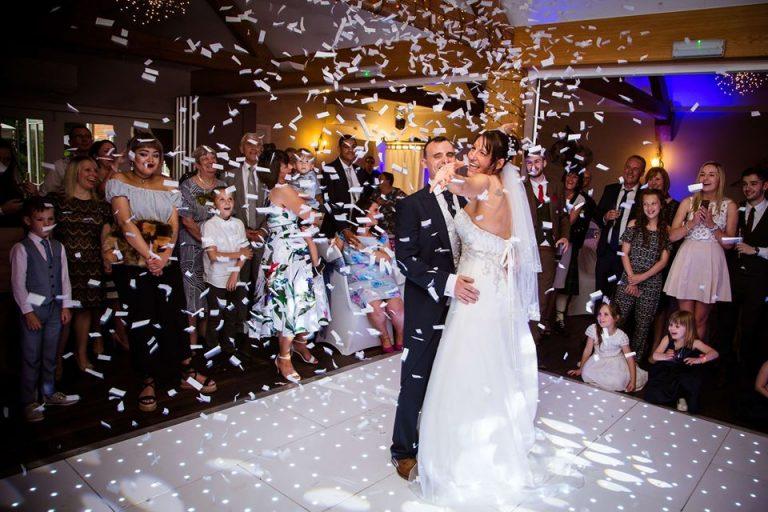 Bride & Groom White Starlit Dance Floor