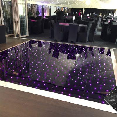 12ft Black Starlit Dancefloor