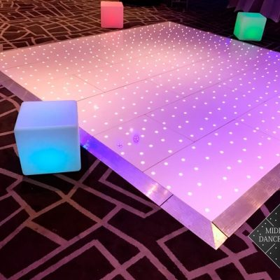 12ft White Starlit Dance Floor Led Cubes