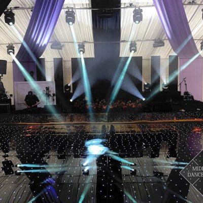 Black Starlit Starlight Dance Floor