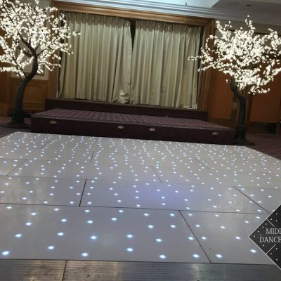 White Starlit Led Dance Floor Birmingham